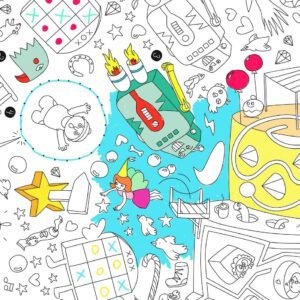 OMY colouring in poster