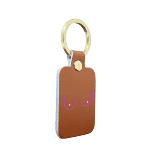 Boob key chain
