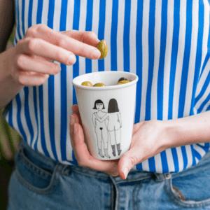 Helen b 4 boobies ceramic cup
