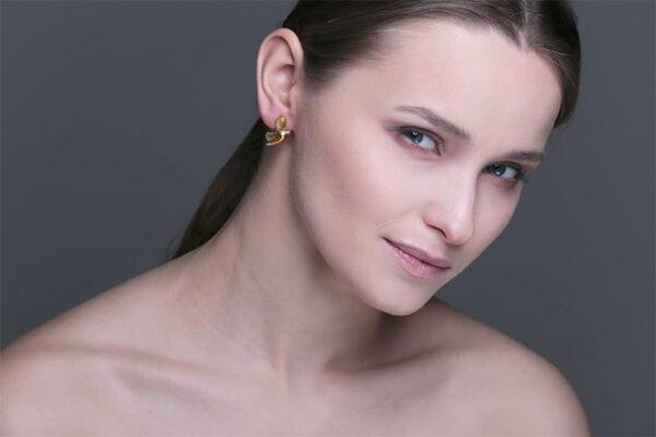 Bird earrings by Lisa Kroeber