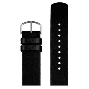 Black replacement PICTO watch leather strap
